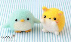 Penguin & Hamster Needle Felting Kit di WooliMochi su Etsy, scovato by Blogghidee.com