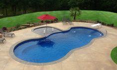 Mediterranean   Leisure Pools USA fiberglass pool