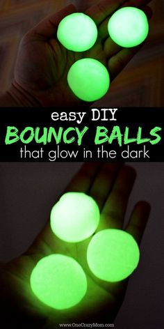 Easy DIY bouncy balls that glow in the dark! Making your own diy bouncy balls that glow in the dark are so easy! They are so cool and your kids will love playing with them! Try making your own diy glow in the dark bouncy balls today! Arts And Crafts For Teens, Diy Projects For Kids, Easy Crafts For Kids, Diy For Kids, Cool Stuff For Kids, Craft Projects, Simple Crafts, Fair Projects, Cute Diy Crafts