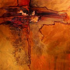 Sonoran Journey mixed media abstract landscape Carol Nelson Fine Art, painting by artist Carol Nelson