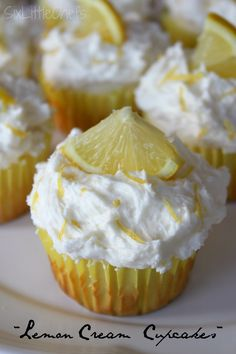 Lemon Cream Cupcakes on MyRecipeMagic.com