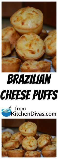 These Brazilian Cheese Puffs taste amazing. We went to a Brazilian Steak House for dinner and they served us these little rolls and we could not get enough of them. Then I asked my friend, who is from Argentina originally, if she knew anything about them and she gave me this recipe. They are so quick and easy to make. I serve them with everything from Lobster to pasta. Actually, I make up any excuse I can think of to make them. You will too. #glutenfree #bread #recipe #food