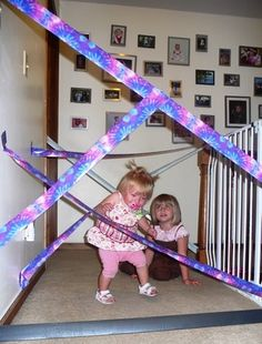 Duct Tape Obstacle Course | Fun Family Crafts
