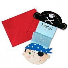 Pirate Fold-Out Die Cut Invite