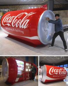 Giant Coca Cola Can, Narita Airport, Japan