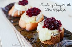 This Cranberry Compote with Brie Appetizer Recipe is a beautiful and delicious way to start any dinner party or get-together. Brie Appetizer, Thanksgiving Appetizers, Thanksgiving Recipes, Appetizer Recipes, Appetizer Ideas, Holiday Appetizers, Holiday Foods, Yummy Appetizers, Holiday Recipes