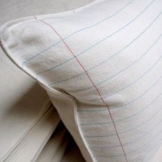 lined paper pillow by pilosale on Etsy