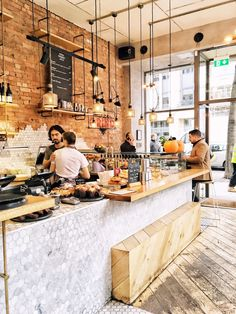 New Brunch Cafe Interior Restaurants Ideas Coffee Shop Interior Design, Bakery Interior, Coffee Shop Design, Cafe Restaurant, Restaurant Design, Bakery Cafe, Bakery Decor, Bakery Design, Cafe Design