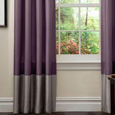 Prima Curtain Panel in Purple  Gray (Set of 2)