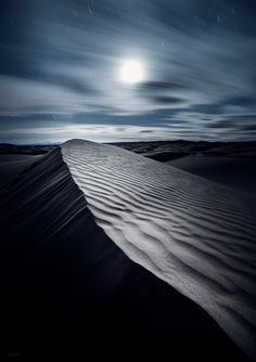 Moonlit Dune by Derek Kind on 500px