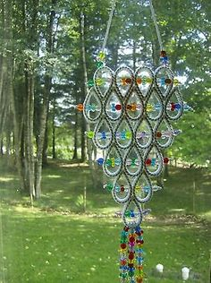 "HANDCRAFTED ""WHITE STYLE SUNCATCHER"" IN PLASTIC CANVAS"
