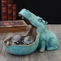 Hippo statue decoration resin artware sculpture statue decor home decoration accessories Now . - NOW ONLY € & Sculptures Hippo statue d -