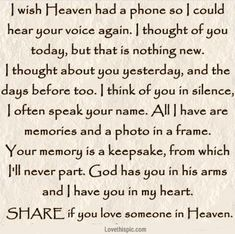 If you love someone in heaven.