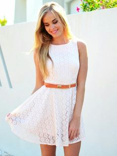 Pretty summer white dress for anyday