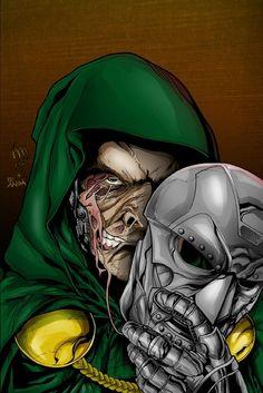 Doctor Doom screenshots, images and pictures - Comic Vine Comic Book Villains, Marvel Villains, Marvel Comics Art, Comic Books Art, Comic Art, Book Art, Fantastic Four Villains, Greatest Villains, Young Avengers
