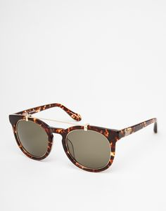 Image 1 of Vivienne Westwood Anglomania Round Bar Detail Sunglasses
