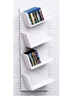 """Das VCM Design-Sammelregal """"Lansi"""" in Holzstruktur-Nachbildung passt sich ganz individuell Ihrer CD/DVD-Sammlung an.      Bietet Platz für ca. 100 CDs, ca. 76 DVDs, Bücher oder weitere Sammelschätze   Das Möbelstück kann mit Hilfe der..."""