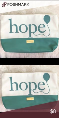 """Philosophy HOPE Travel Pouch Bag Canvas New, approximately 12"""" wide and 8"""" tall. Philosophy Bags Cosmetic Bags & Cases"""