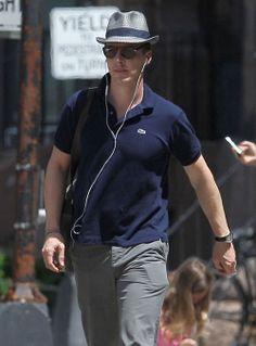 Benedict Cumberbatch arrives on the set of 'Black Mass' in Boston