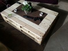 Multifunction Coffe Table With Storage, Slide Out and Lift. Build From Euro Pallets - Modern Coffee Table Out Of Pallets, Coffee Table Furniture, Lift Top Coffee Table, Diy Coffee Table, Coffee Table With Storage, Diy Table, Coffee Ideas, Pallet Furniture Designs, Wooden Pallet Furniture