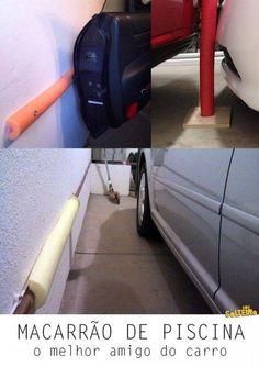 O Lado de Cá: Use macarrão de piscina na garagem para proteção d...