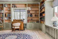 stiligahem.se Furniture, House, Interior, Gustavian, Home, Scandinavian Furniture, Green Library, Library Bookcase, House Colors