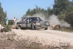 Mercedes 280E rally car by eplusm of Flickr.com.