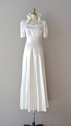 1930s dress / 30s wedding dress / In the Campagna wedding gown