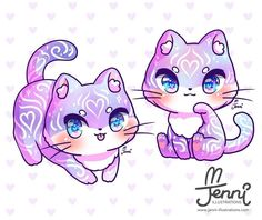 Cute Kawaii Animals, Cute Animal Drawings Kawaii, Cute Cat Drawing, Cute Little Animals, Cute Drawings, Kawaii Anime, Kawaii Chibi, Kawaii Cat, Cute Chibi