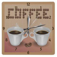 Coffee Wall Clock by elenaind