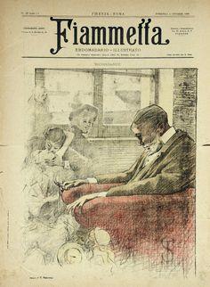 Fiammetta 1896,  cover 30x40 cm.,  by #TelemacoSignorini