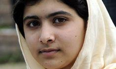 Because she got shot defending school for girls... Proud on you Malala ..