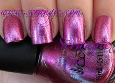 Scrangie: Nicole by OPI Shades To Crave Collection Holiday 2010 - Mis-Magenta Me