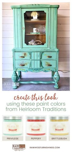 Painted Furniture | Furniture Makeover | How To | Heirloom Traditions Paint | Chalk Paint | China Hutch | RAWHyde Furnishings