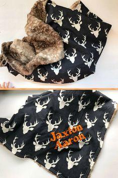 Baby Boy Faux Fur Blanket, super cute!! #blanket #baby #fur #deer #rustic #nursery #boy #custom #girl #ad