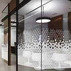 commercial work of partition Glass. design is unique and looking very unique. Glass Sticker Design, Glass Film Design, Window Design, Door Design, Wall Design, Design Case, Office Interior Design, Office Interiors, Medical Office Interior