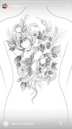 Family Tattoo Designs, Flower Tattoo Designs, Flower Tattoos, Black Snake Tattoo, Black And Grey Tattoos, Henna Tattoo Hand, Mandala Tattoo, Line Tattoos, Sleeve Tattoos