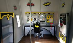 """This Bat Cave play house interior is a real """"Knock-out!"""""""