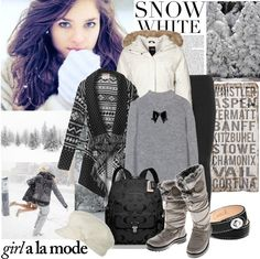 """Baby It's Cold Outside"" by justjules2332 ❤ liked on Polyvore"