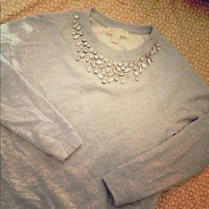 Michael Kors Michael Kors long sleeve jewel Embellished Raglan Crew new!! Really cute MICHAEL Michael Kors Sweaters Crew & Scoop Necks