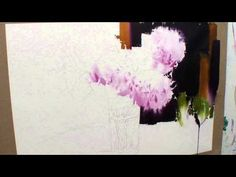 Dark background with softened edges Watercolor Flowers Tutorial, Kids Watercolor, Watercolor Video, Watercolour Tutorials, Watercolour Painting, Watercolors, Painting Studio, Painting Lessons, Painting Videos