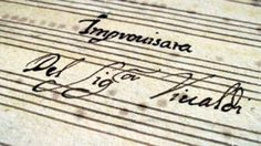 Lost Vivaldi violin works surface in U. Music Composers, Conductors, Classical Music, Violin, Singers, Musicians, Reflection, Surface, Calligraphy