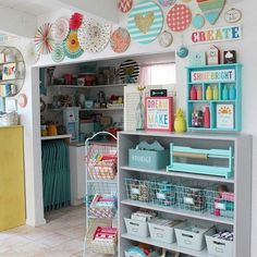 45 Gorgeous Colourful Organizing Sewing Room Ideas For Inspiration. 45 Gorgeous Colourful Organizing Sewing Room Ideas For Inspiration. A good storage system is much more than just putting all your sewing supplies away. It will make it easier […] Craft Room Decor, Craft Room Design, Craft Room Storage, Home Decor, Wall Decor, Office Storage, Wall Art, Sewing Room Design, Sewing Room Decor