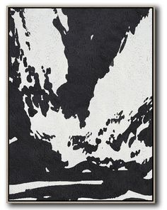 Vertical Minimal Art #MN182B #acrylic-painting #Artists_Celine-Ziang #Black-and-White