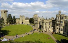 Warwick Castle is a medieval castle in Warwick, the county town of Warwickshire, England. It sits on a cliff overlooking a bend in the River Avon. Warwick Castle was built by William the Conqueror in 1068