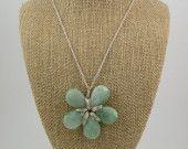amazonite flora necklace