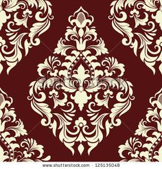 Vector damask seamless pattern element. Elegant luxury texture for wallpapers, backgrounds and page fill. by GarryKillian, via ShutterStock