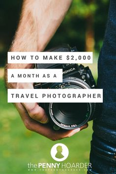 Wondering how to make money as a photographer? If you're interested in travel photography, you'll definitely want to read about this guy's strategy for landing clients and building a freelance business. Could this be the year you get paid to travel and take beautiful pictures? - The Penny Hoarder http://www.thepennyhoarder.com/make-money-travel-photography/