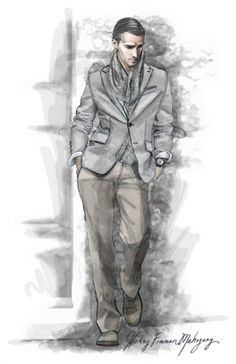 Menswear Suit Illustration