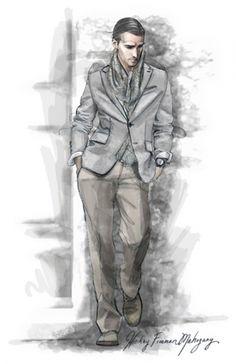 Menswear Suit Illustration